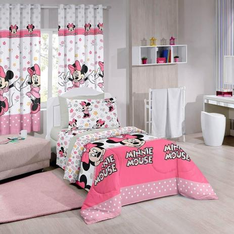 6c29ffe44b Jogo De Lençol 3 Peças Disney Minnie Happy Santista - Jogo de Cama ...