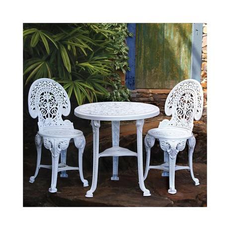 Imagem de Jogo de Mesa e 2 Cadeiras Plásticas Colonial Branca