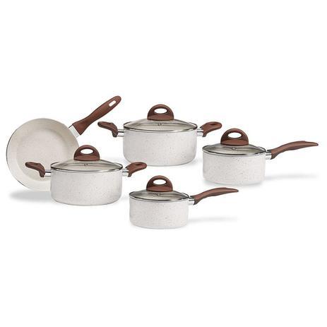 Imagem de Jogo de Panelas Antiaderente Brinox Ceramic Life Granada com Fundo de Indução 5 peças