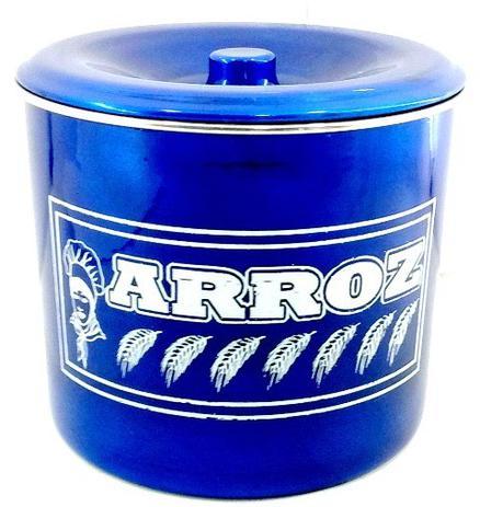 Jogo De Potes De Mantimentos Em Aluminio Na Cor Azul Escuro Com 5 Peças -  Panelas brasil 9b3c630675455