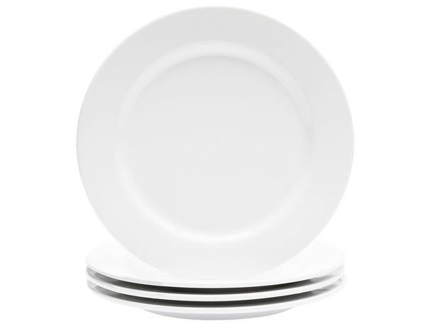 Imagem de Jogo de Pratos de Porcelana Redondo Branco Raso