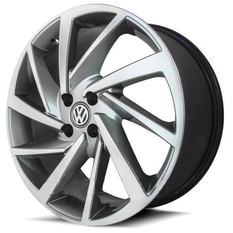 Imagem de Jogo De Rodas New Polo Aro 20 x 7,5 4x100 ET40 Volkswagen R93 Grafite Diamantado