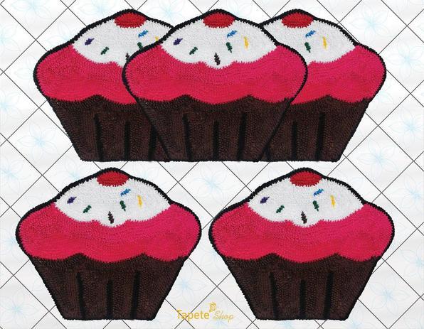Imagem de Jogo De Tapetes Para Cozinha Cupcakes - Frufru