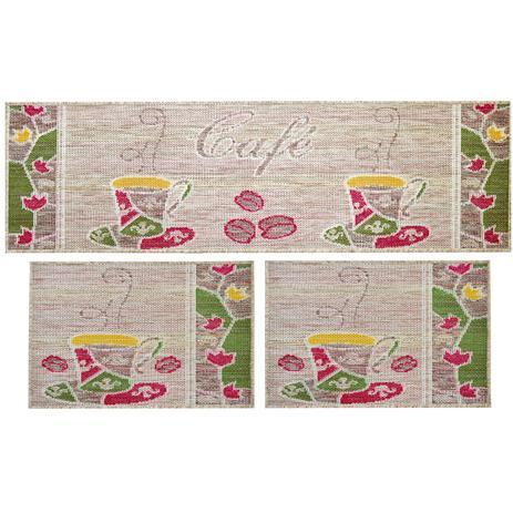 53139c0c0 Jogo de Tapetes Para Cozinha Sisal Look Café 3 Peças - Rayza ...