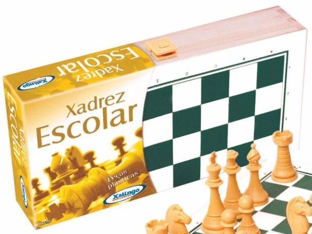 Jogo de Xadrez Escolar - Xalingo - Dominó 13372c0bbad01