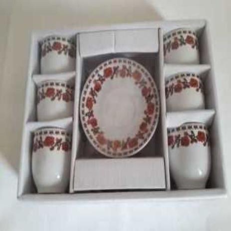 Imagem de Jogo De Xicaras Ceramica Lyon Cm Pires 90 Ml  6  Pçs