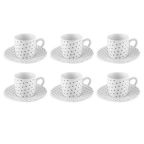 Imagem de Jogo de xícaras para café em porcelana Hauskraft Petit 6 peças 90ml