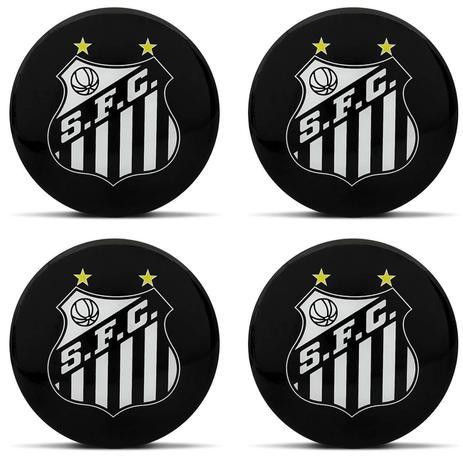 Jogo Emblemas Resinados para Rodas Esportivas Santos F. C. Produto Oficial  4 Peças 5 7a6e49e1faaf1