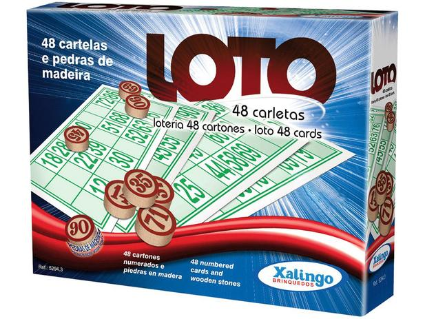 Jogo Loto 48 Cartelas - Xalingo