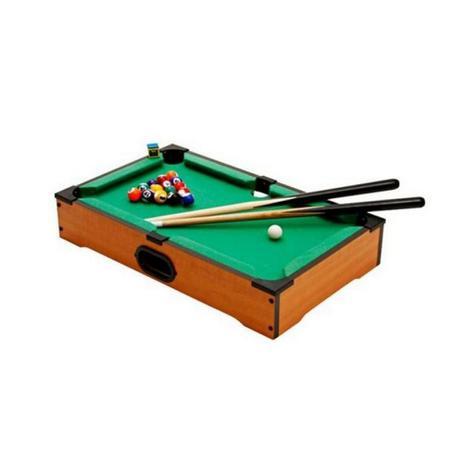 Imagem de Jogo Mesa Mini Bilhar Sinuca Snooker 51 X 31 Completo