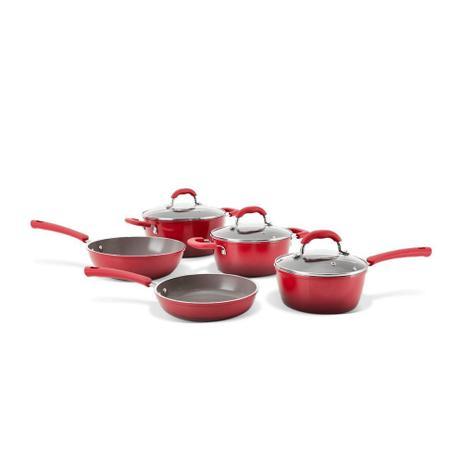 Imagem de Jogo Panela Vermelha Ceramic Life Select Vermelho 5 Peças