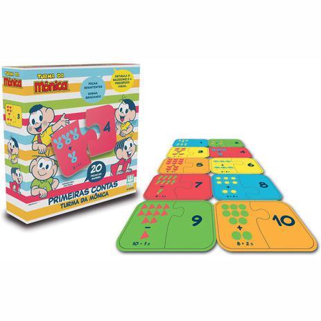 e4300b98f4 Jogo Primeiras Contas em Madeira - Turma da Mônica - 20 peças - 0764 - Nig  Brinquedos