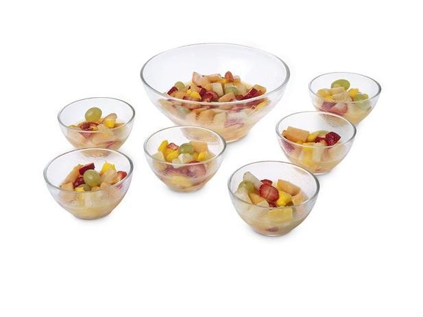 Imagem de Jogo Sobremesa Salada Sorvete Vidro Tigela Bowl 7pçs