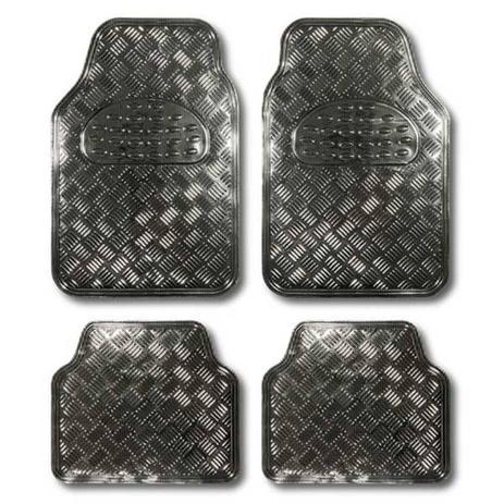 63ba7d83c Jogo Tapete Automotivo Alumínio Chumbo Carbono Tuning Carro 4 Peças Uso  Universal - Estamparia paulista peças e acessórios automotivos
