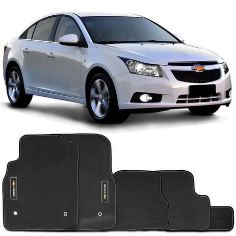 Imagem de Jogo Tapete Borracha PVC Cruze Hatch Sport6 11 a 16 Cruze Sedan 11 a 16 Emblema Impermeável 5 Peças