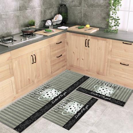Imagem de Jogo Tapete De Cozinha Nectar 3 Peças Com Antiderrapante