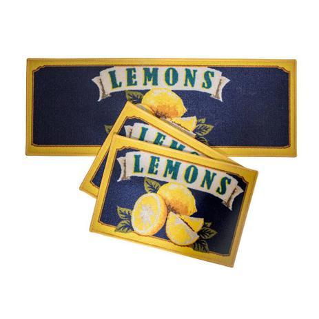 Jogo Tapetes De Cozinha Confeitare Lemons Flag 3 Peças - Cortex