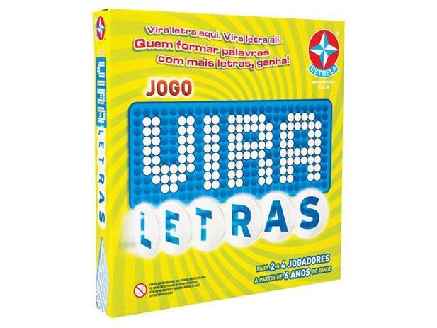Jogo Vira Letras Tabuleiro - Estrela