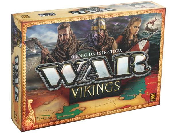 Jogo War Vikings Tabuleiro O Jogo Da Estrategia Grow Brinquedos De Estrategia Magazine Luiza