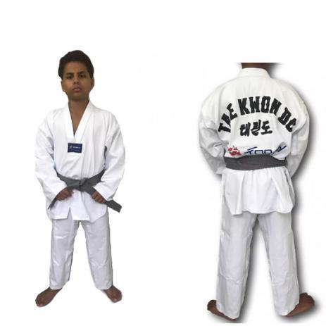 Imagem de Kimono dobok Infantil Taekwondo Gola Branca - Torah