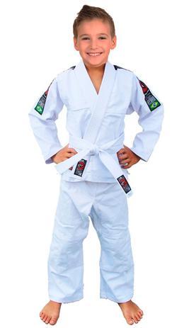 61ec5691bb8 Kimono Infantil Jiu Jitsu - Judô + Faixa Branca - Naja - BRANCO ...