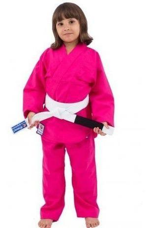 Imagem de Kimono Infantil Torah Judô e Jiu jitsu Rosa