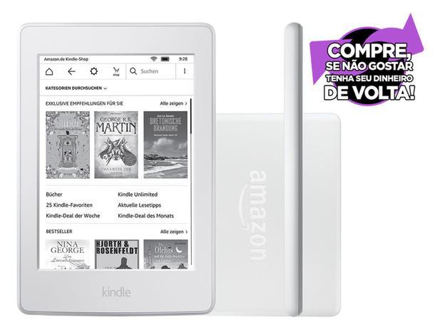 """c3f1081f2186e Kindle 8ª Geração Amazon Tela 6"""" 4GB Wi-Fi - Branco - Kindle   e ..."""