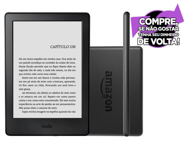 "Kindle 8ª Geração Amazon Tela 6"" 4GB Wi-Fi - Preto - Kindle   e ... 3c265be54f"