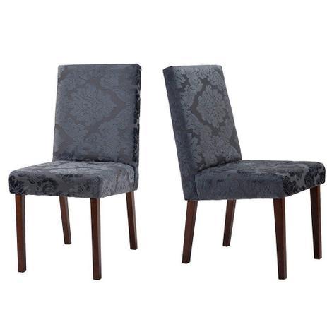Imagem de Kit 02 Cadeiras Estofada Emilia Medalhão Níquell - Ammo Mobili
