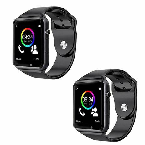 Kit 02 Relogio A1 Original Touch Bluetooth Gear Chip Smartwatch Smart Watch