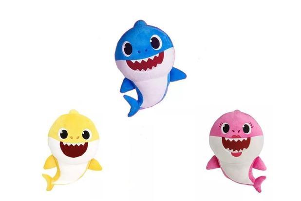 Imagem de Kit 03 Pelúcias Baby Shark