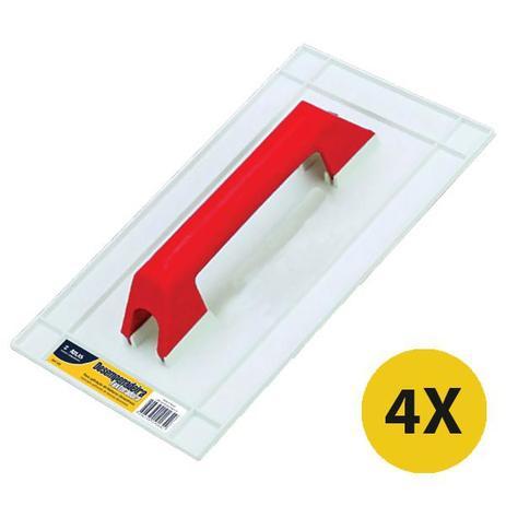 Kit 04 Desempenadeira Plástica Para Textura Grafiato Pvc-165 - Atlas