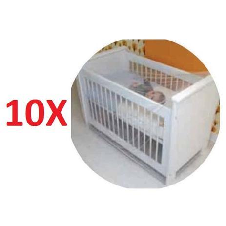 Imagem de Kit 10 mosquiteiro para cercadinhos e berco para crianças e bebe tela de proteção contra insetos mos