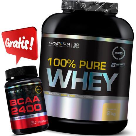 13915826f Kit 100 Pure Whey 2kg + Bcaa 2400 Probiotica Promoção - Probiótica ...