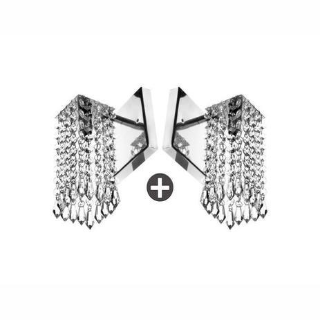 Imagem de Kit 2 Arandelas De Cristal Acrilico Clearcrillic Quadrada!