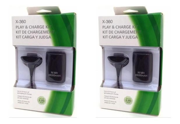 Imagem de KIT 2 Bateria xbox 360 recarregavel + cabo carregador