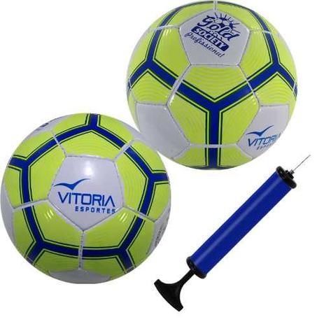 Kit 2 Bola Futebol Sete Society Profissional Adulto Oficial - Vitoria  esportes 7e86ddcc0f443