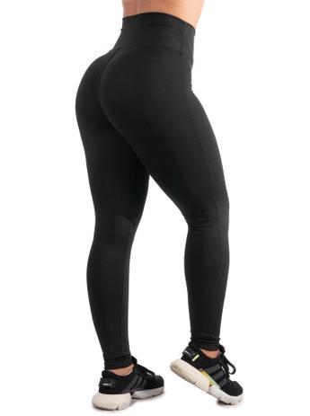 Imagem de Kit 2 Calças Legging Fitness Preta Cintura Alta Academia Levanta Bumbum Esporte Ginástica