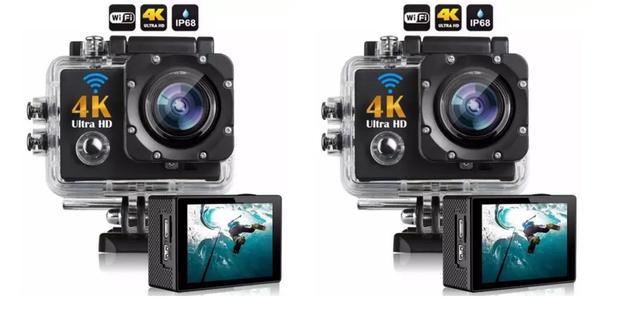 Imagem de kit 2 Câmera 4k Ultra HD Sports Pro Wi-fi 30fps e 60fps Grave Vídeos Incríveis