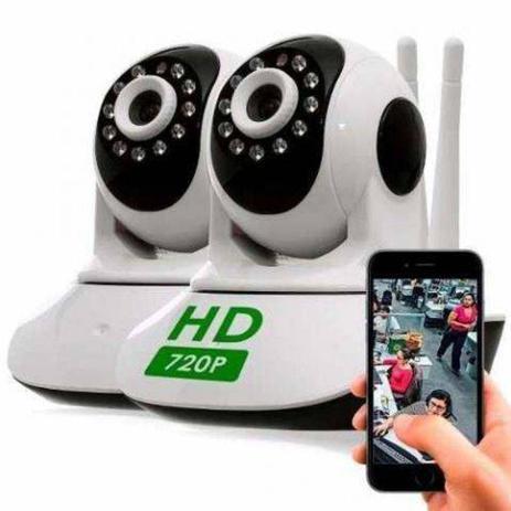 Imagem de Kit 2 câmeras ip câmeras segurança wifi sem fio robo HD 720p