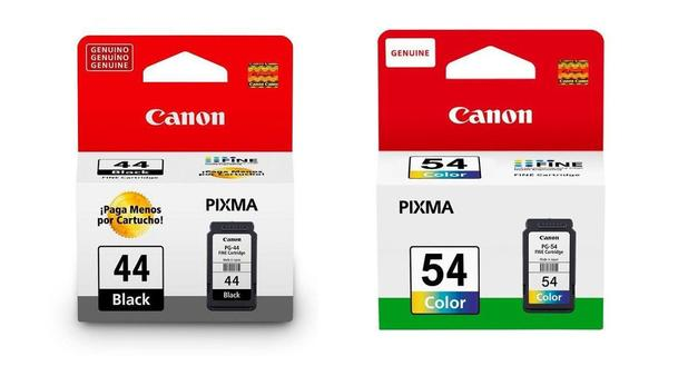 Imagem de Kit 2 Cartucho Canon PG-44 Preto + CL-54 Colorido para impressora Canon Pixma E401 E461 E481