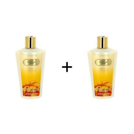 Imagem de Kit 2 Cremes Hidratante Body Lotion Victorias Secret  Vanilla Lace 250ml
