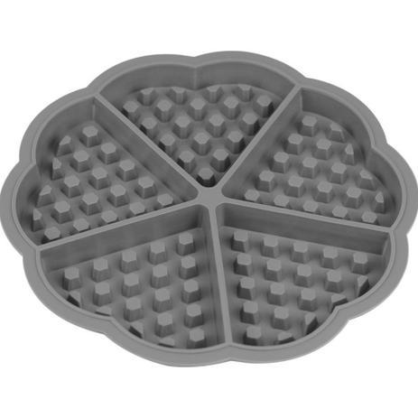 Imagem de Kit 2 Formas Silicone P/ Waffles Coração 5 Cavidades 17,5 cm