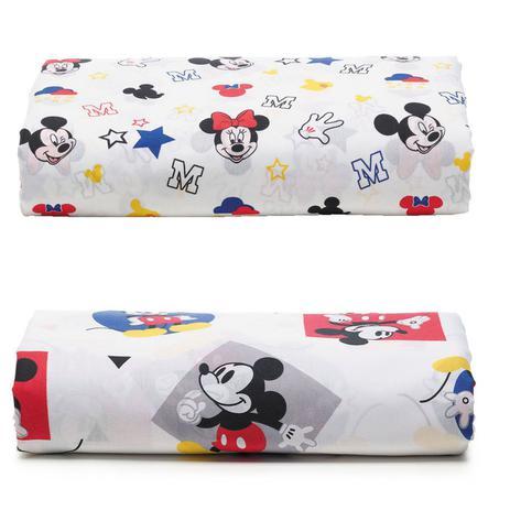Imagem de Kit 2 Lençois Infantil Mickey Play E Stick Com Elástico Santista