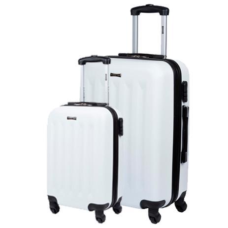 ddeaf90ec Kit 2 Malas P G de Viagem Com Rodinhas 360 4 Joy 3 - Branco - Sestini
