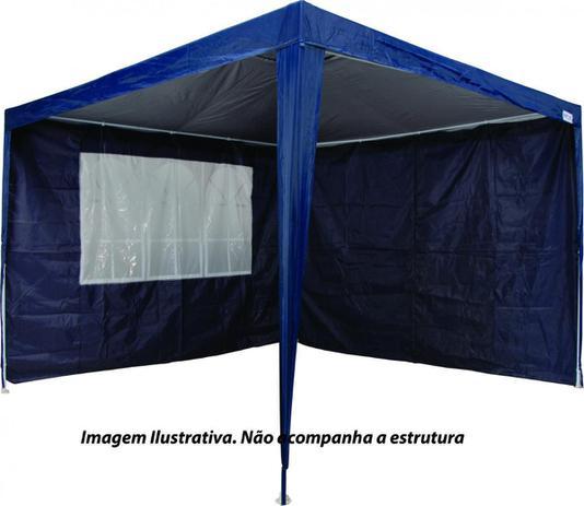 Imagem de Kit 2 Paredes Para Tenda Gazebo Azul 3X3m MOR