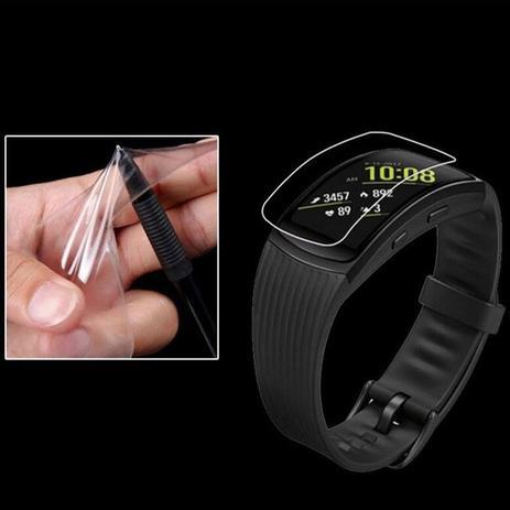 f6f5618a029 Kit 2 Películas Gel Relógio Samsung Galaxy Gear Fit 2 Pro - Screen saver