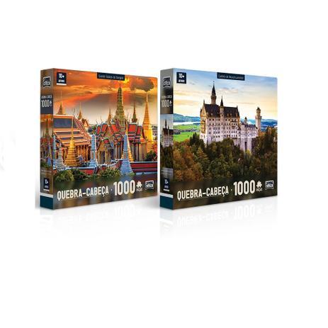 Imagem de Kit 2 Quebra - Cabeça 1000 peças - Palácio de Bangkok e Cast