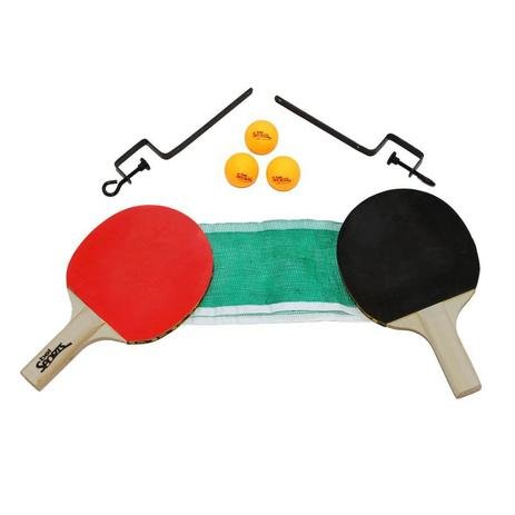 Kit 2 Raquetes De Ping Pong ( Tenis De Mesa ) + Rede + Suporte + Bola - Bel  sports 83f2fede65ba5