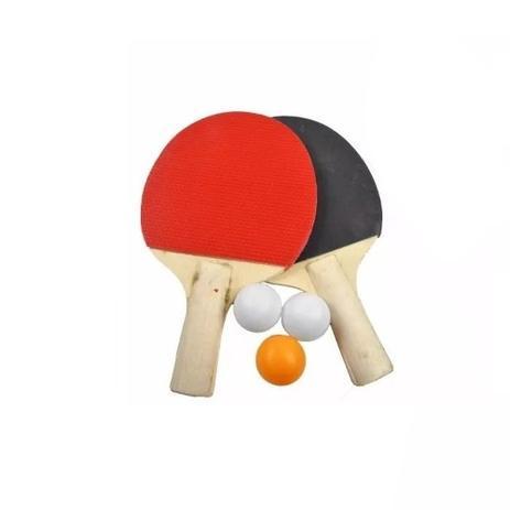 Kit 2 Raquetes Para Ping-Pong E 3 Bolinhas - Rpc - Kit Ping Pong ... 4c03e89b375fd
